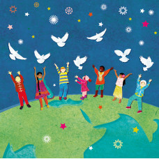 Compassion Charity Christmas Cards - Doves Of Peace (Pack of 10)