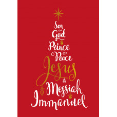 Compassion Charity Christmas Cards - Names Of Jesus/Tree (Pack of 10)