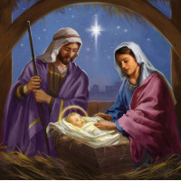 Compassion Charity Christmas Cards - Manger Scene (Pack of 10)