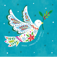 Compassion Charity Christmas Cards - Jesus/Peace Dove (Pack of 10)