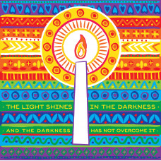 Compassion Charity Christmas Cards - Vibrant Candle (Pack of 10)