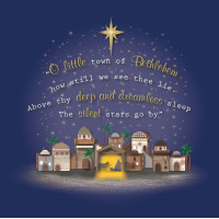 Compassion Charity Christmas Cards - O Little Town (Pack of 10)