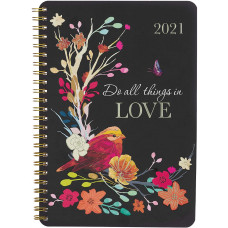 12 Month Daily Planner - Do All Things In Love