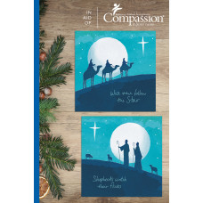Compassion Christmas Charity Box: Moonlight (12 Cards)