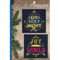 Compassion Christmas Charity Box: Vibrant (12 Cards)