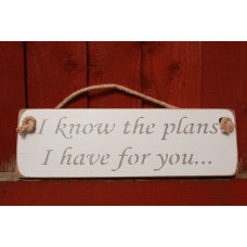 I Know The Plans Rustic Plaque