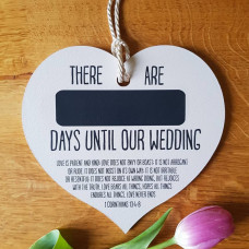 Days Until Our Wedding Heart