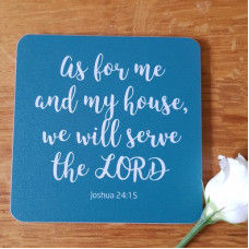 Coaster with Verse - As For Me And My House