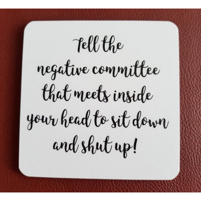 Tell The Negative Committee Coaster