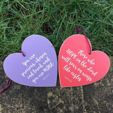 Purple Precious and Loved Hanging Heart Decoration