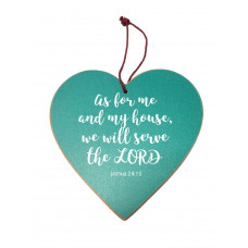 As For Me And My House Hanging Heart Decoration