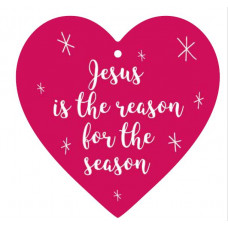 Jesus Is The Reason For The Season Hanging Heart