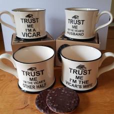 Trust Me I'm The Vicar's Husband Mug