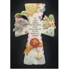 Whimsical Wall Cross - God Created Everything