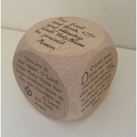 Large Grace Solid Oak Prayer Cube