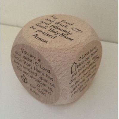 Large Grace Solid Oak Prayer Cube