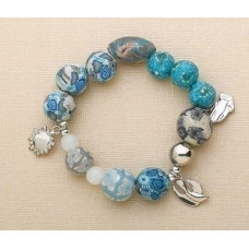 Serenity Clay Bead Stretch Bracelet