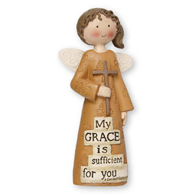 My Grace is Sufficient Angel Ornament
