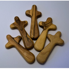 Olive Wood Holding Cross