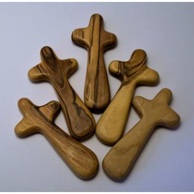 Olive Wood Holding Cross