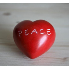 Peace Soapstone Heart Pebble