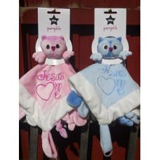 Jesus Loves Me Pink Owl Comforter