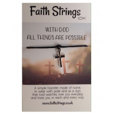 Faith Strings Bracelet - With God All Things Are Possible