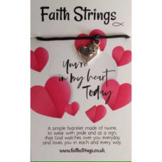 Faith Strings Bracelet - You're In My Heart Today