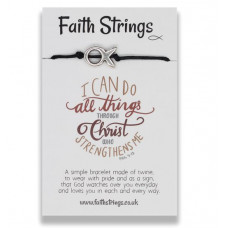 Faith Strings Bracelet - I Can Do All Things