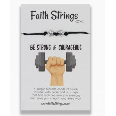 Faith Strings Bracelet - Be Strong & Courageous