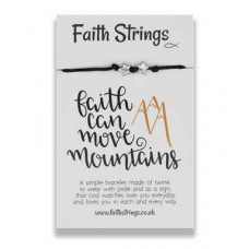 Faith String Bracelet - Faith Can Move Mountains