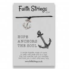 Faith Strings Bracelet - Hope Anchors The Soul