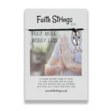 Faith Strings Bracelet - Pray More Worry Less