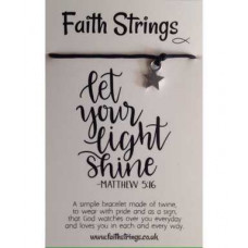Faith Strings Bracelet - Let Your Light Shine