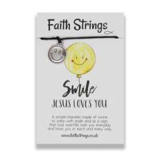 Faith Strings Bracelet - Smile Jesus Loves You