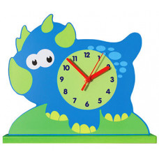 The Lord Protect You Blue Dinosaur Clock