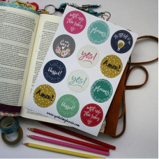Bible Journaling Stickers Yes!