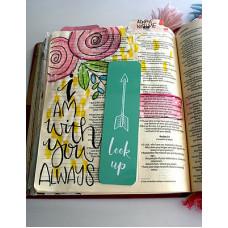 Metal Bookmark - Look Up