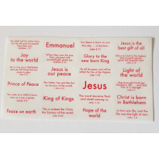 120 Christmas Bible Text Stickers