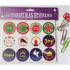 60 Christmas Stickers