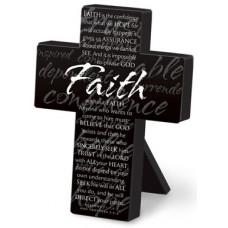 Faith Mini Metal Black Cross