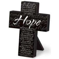 Hope Mini Metal Black Cross