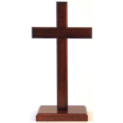 Mahogany Standing Cross 40cm