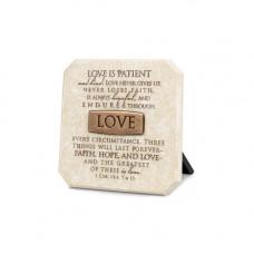 Love Bronze Title Bar Plaque