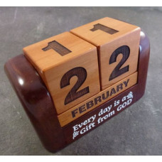 Wooden Perpetual Calendar - Every Day is a Gift