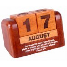 Wooden Perpetual Calendar - I Know the Plans