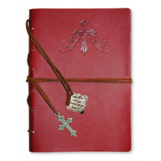 For God so Loved Faux Leather Journal