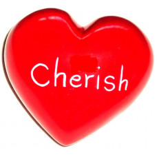 Red Cherish Soapstone Heart