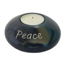 Soapstone Tea Light Holder - Peace