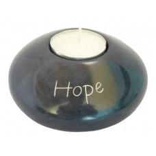 Soapstone Tea Light Holder - Hope